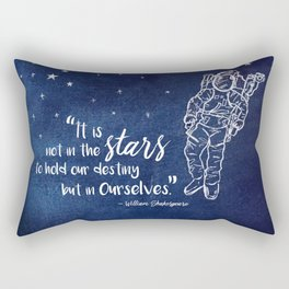 Shakepeare Not in the Stars Rectangular Pillow