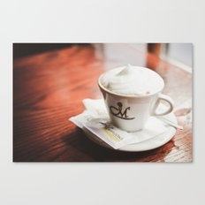 cappuccino on the table Canvas Print