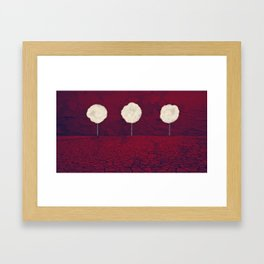 Tree Clouds Red 01 Framed Art Print