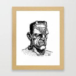 FRANKIE JR. (Black & White) Framed Art Print