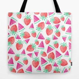 Watermelon + Strawberry Tote Bag