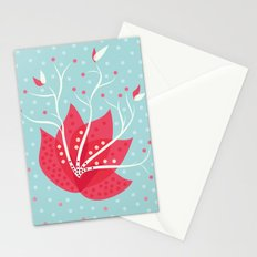 Exotic Winter Flower Stationery Cards