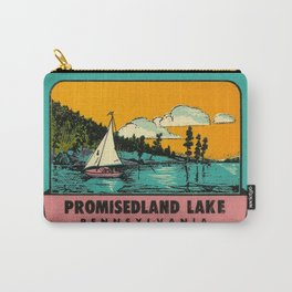 Sailboat Lake Vintage Travel Promisedland Carry-All Pouch