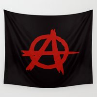 anarchy Wall Tapestries featuring Anarchy by ArtSchool