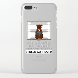 Staffordshire Bull Terrier Mugshot Clear iPhone Case
