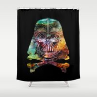 darth Shower Curtains featuring Darth Cosmos by Beery Method