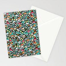 Aqua Sushi Stationery Cards