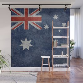 The National flag of Australia, Vintage version Wall Mural