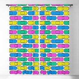 get well colorful band aids Blackout Curtain