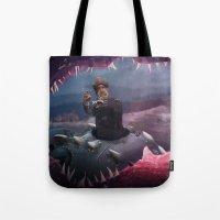 nemo Tote Bags featuring Captain Nemo by Josmen9016