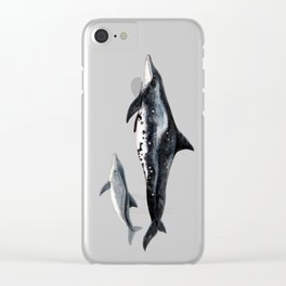 Rough-toothed dolphin (Steno bredanensis) Clear iPhone Case