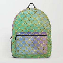 Sea-Green Mermaid Scales Pattern Backpack