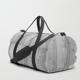 Wood Planks in black and white Duffle Bag