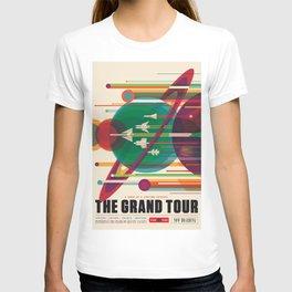 NASA Retro Space Travel Poster The Grand Tour T-shirt