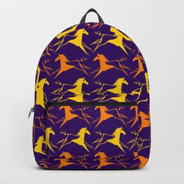 Horse Nation Purple Gold Backpack