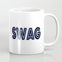 swag Mugs featuring SWAG by Gold Blood