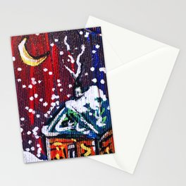 Winter Night Stationery Cards