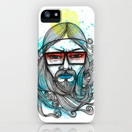 A Man with Shades and Beard iPhone Case