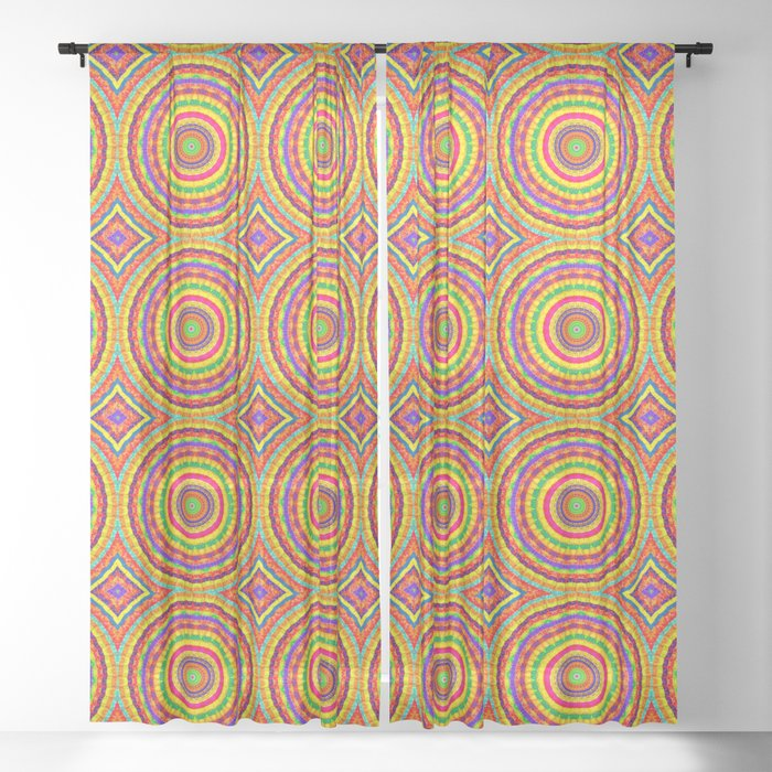 Batik Bullseye Sheer Curtain