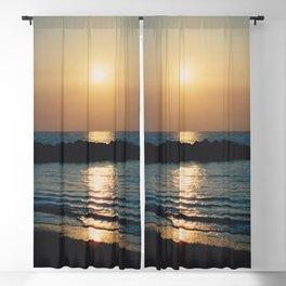 Sunset Ocean Bliss #6 #nature #art #society6 Blackout Curtain