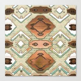 Copper Geometric Antique Canvas Print