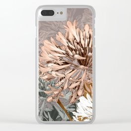 AGAPANTHUS Clear iPhone Case
