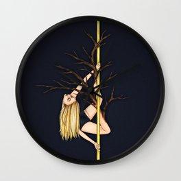 Poletober - Creepy Trees Wall Clock