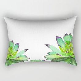 green succulent 2 Rectangular Pillow