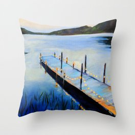 Evening at the Lake Throw Pillow