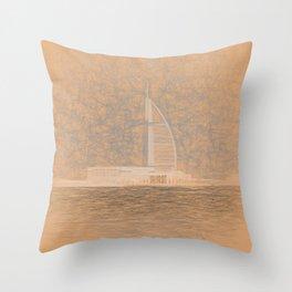 Burj AL Arab da Vinci Throw Pillow