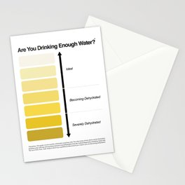 Pee Color Chart / Urine Color Chart Stationery Cards
