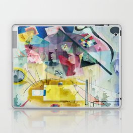 Displacement Glitch-Colorful Abstract Art Laptop & iPad Skin