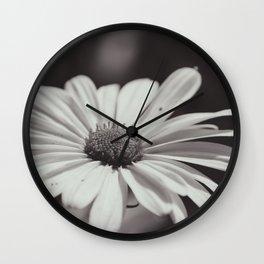Single Daisy BW Wall Clock