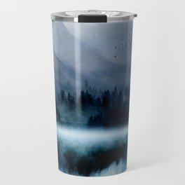 Mountainscape Under The Moonlight Travel Mug