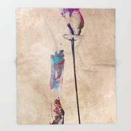 fencing sport art #fencing Throw Blanket