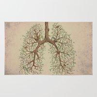 breathe Area & Throw Rugs featuring Breathe! by Marcelo Jiménez