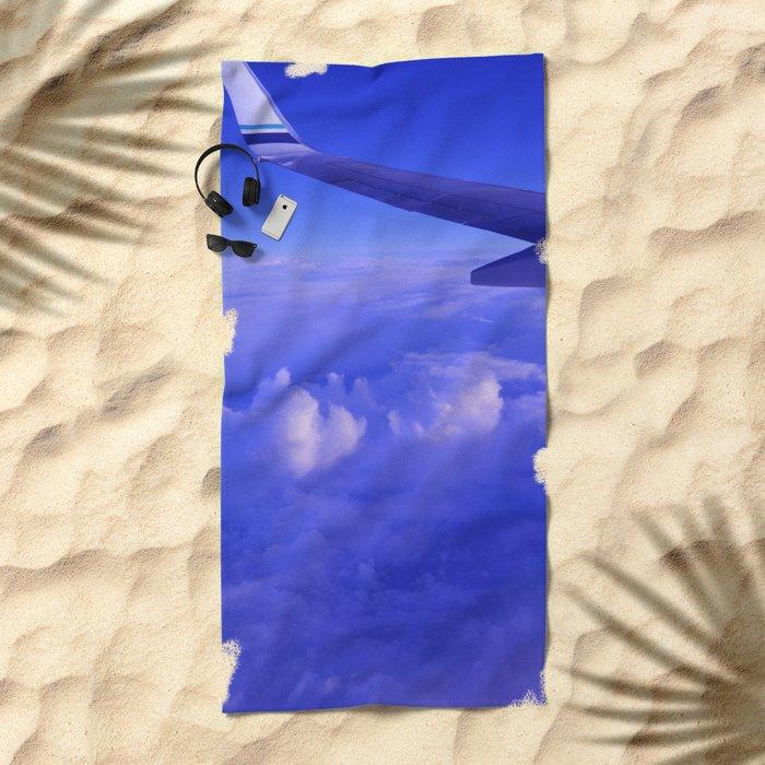 Aerial Blue Hues II Beach Towel