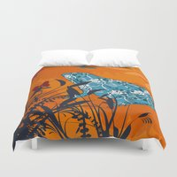 frog Duvet Covers featuring Frog by Agustina Echarry