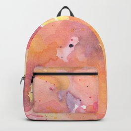 Abstract Watercolor Colorful Painting Backpack