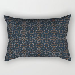 gothic star shapes pattern on the deep background Rectangular Pillow