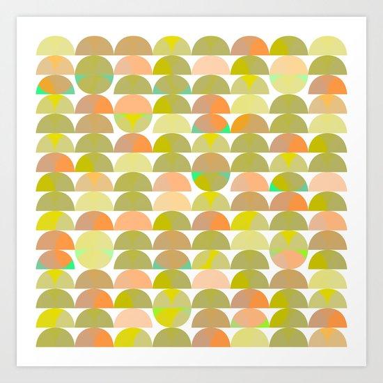 Geometric Juice Art Print