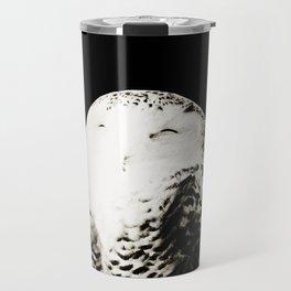 Snow Owl #1 #animal #decor #art #society6 Travel Mug