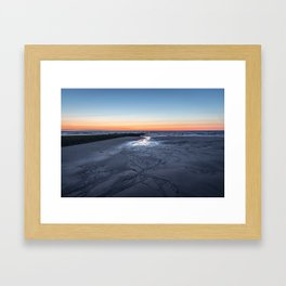 Sunset over the North Sea Framed Art Print