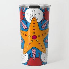 Starfish and Coral Travel Mug