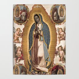 Virgin of Guadalupe, 1700 Poster