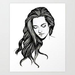 Portrait of Kristen Stewart Art Print