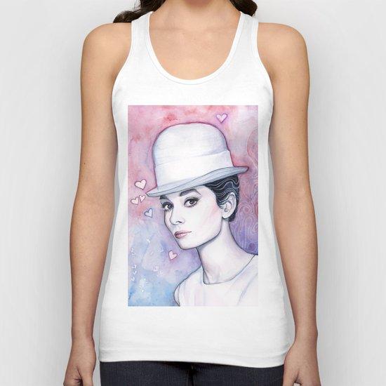 Audrey Hepburn Unisex Tank Top