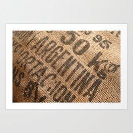 Burlap sack Art Print