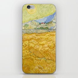 """Vincent van Gogh """"Wheat Field behind Saint Paul Hospital with a Reaper"""" iPhone Skin"""