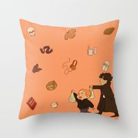 shopping Throw Pillows featuring Shopping! by inchells